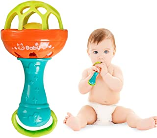 Anniston Baby Accessories, Rattle Toy Baby Intelligence Grasping Gums Hand Bell Sound Funny Birthday Gift Perfect Fun time...