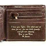 Swanky Badger 個人用財布 二つ折りレザー財布 IDスロット カードスロット付き, 二つ折り財布。, ブラウンクラシック。, S