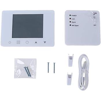 BECU Cobre Berilio 1/Juego WiFi y RF termostato inal/ámbrico para Caldera de Gas de Pared Ambiente Mando a Distancia regulador de Temperatura semanal programable