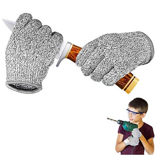 IYQOL® Schnitzhandschuhe Kinder, Schnittsichere Handschuhe für Kinder, Lebensmittelecht, Extra Starker Level...
