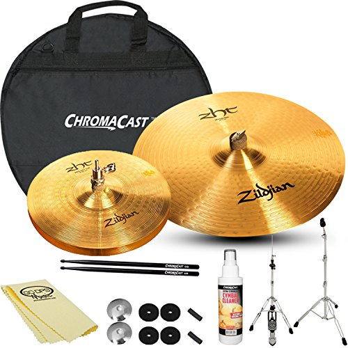 Zildjian ZHT 10-inch Mini HiHat Pair & ZHT 22-inch Ride Set with ChromaCast Accessories