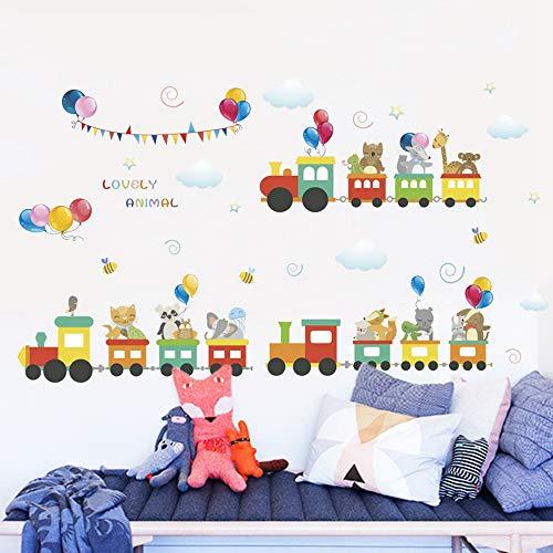 Muurstickers, zelfklevend, creatief, comic-motief, van PVC, wandsticker, decoratief, voor kinderkamer, omgeving, kinderkamer, kleuterschool