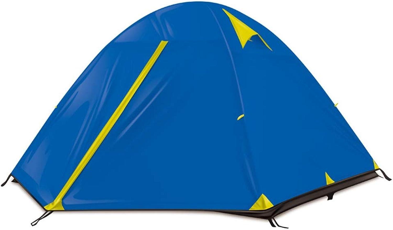 CHEXIAO Campingzelt, 3 Personen Wasserdichte Linie Aluminium Pole Zelt Regendichtes Winddichtes Wandern