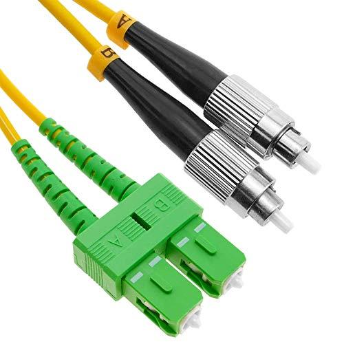BeMatik - Cable de Fibra óptica FC PC a SC APC monomodo Duplex 9 125 de 5 m OS2