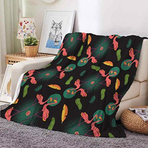 Patrón de manta de sofá de animales de animación de dibujos animados, manta de aire acondicionado, manta fina de siesta, manta de viaje, manta de avión, todas las estaciones-H_El 120x150cm * 1