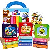 Disney Junior Muppet Babies Board Books Set Toddlers Babies Bundle ~ Pack of 12 Chunky My First Library Board Book Block with Stickers (Muppets Books for Infants)