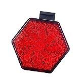 NCRD LED USB Luz de Cola de Bicicleta Recargable  Linterna Trasera Extremadamente Notable para la máxima Visibilidad  Impermeable  Luces traseras de Bicicletas para Ciclismo con Clip. (Color : Red)