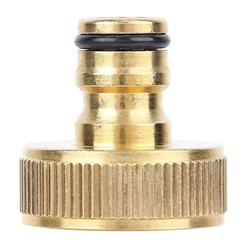 Adaptador de grifo de jardín para manguera de cobre de 1 pulgada, rosca hembra, accesorios de arandela rápida para interior y exterior