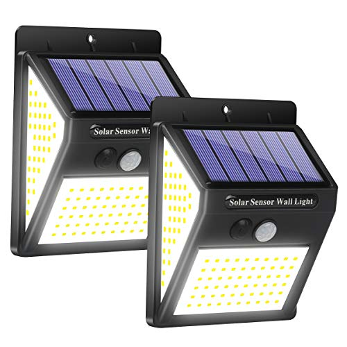 Yacikos Solar Lights Outdoor , [46 LED] Solar Motion Sensor light Waterproof Solar Security Wireless LED Wall Lights for Outdoor, Garden, Patio Yard, Deck Garage, Fence, Driveway Porch (2 Pack
