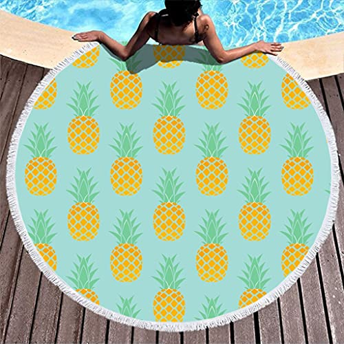 Rtisandu Toallas de playa redondas, absorbentes, para adultos, niños, color blanco, talla única