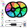 LED Strip Lights Sync to Music, OxyLED 32.8ft 10M 300LED Flexible RGB 5050 Color Changing Rope Lights with Remote Controller, IP65 Waterproof LED Tape Lights kit for Home, Bedroom, Kitchen, Bar, Party
