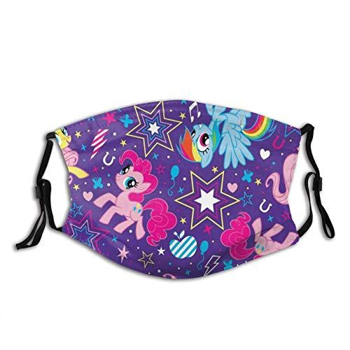 Kingam, maschera per il viso My Little Pony, per uomo, donna, bambini, con stampa confortevole, lavabile, riutilizzabile, per cosplay