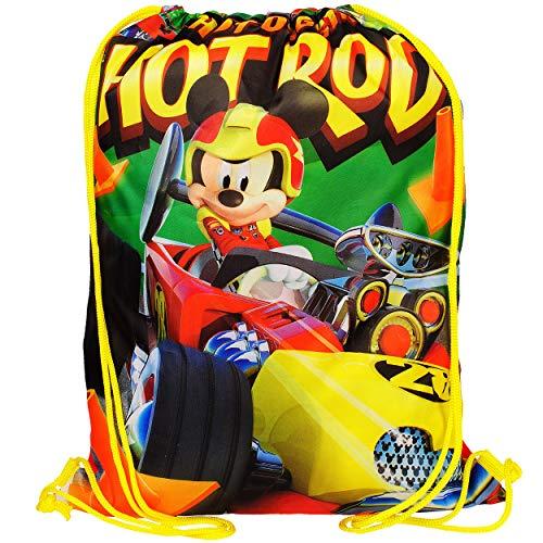 alles-meine.de GmbH Sportbeutel - Turnbeutel - Schuhbeutel - Disney - Mickey Mouse im Auto - wasserabweisend abwischbar - für Kinder - Kinderbeutel / Schlafsack - Schulbeutel Kin..