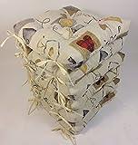 Rattani - Set 6 x Stuhlkissen/Sitzkissen Klara 42 x 42 cm Dicke 8 cm, Stoff Mirha Leinen Love - Made...