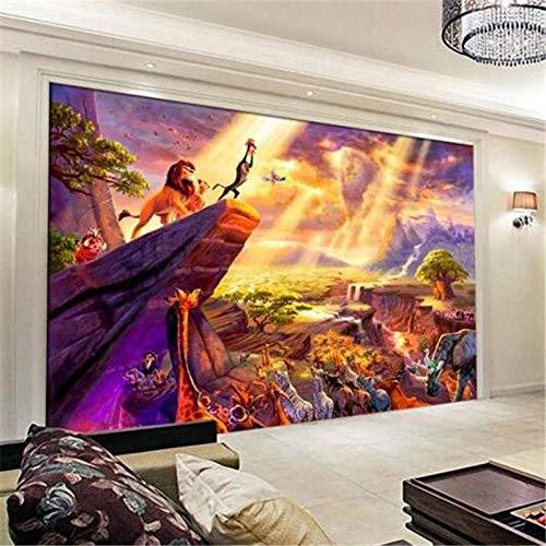 Tapete Zimmer Fototapete Wand Dekoration Märchen Vom König Der Löwen Hintergrund Wand Tapete Wand Dekoration 200 * 140Cm
