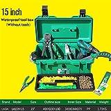 Caja de herramientas impermeable Kit de herramientas 15'/17'/19' caja de herramientas de dos capas caja de sellado a prueba de golpes caja de herramientas de plástico portátil maleta para herramientas caja de herramientas