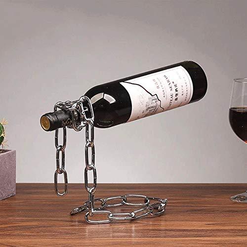 MUBAY European Metal Weinregal, Retro Schmiedeeisen-Verzierungen, stilvolle und einfach Wein Storage Rack, sehr geeignet for Bars, Weinkeller, Schränke (Color : Silver)