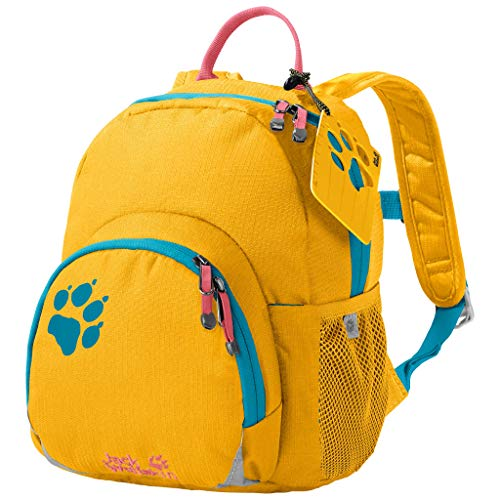 Jack Wolfskin Kinder Buttercup bequemer Kinderrucksack, Burly Yellow XT, ONE SIZE