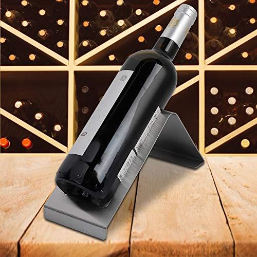 Estante para botellas de vino, estante para vinos más estable con elegante diseño Radian para exhibición de botellas de vino