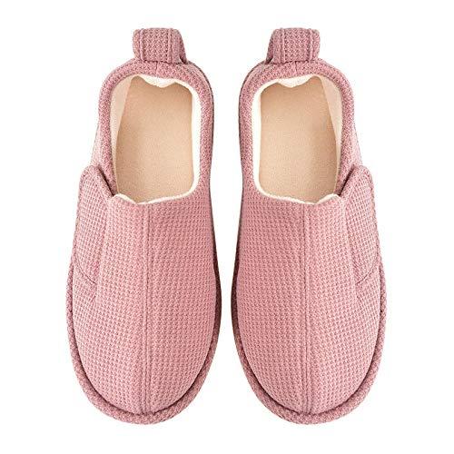 B/H Pantofola di Lino,Borsa Antiscivolo Interna per la casa e Scarpe di Isolamento Caldo-A_M,Lino Pantofole