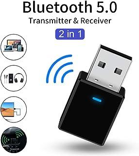 Funnyrunstore Mini USB Bluetooth Adaptador V4.0 AUX Bluetooth Dongle M/úsica Receptor de Sonido para PC Transmisor Adaptador Receptor Negro