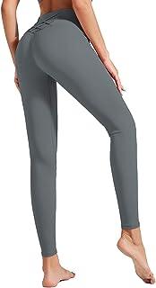 Dawwoti Yoga Leggings for Women Slimming Yoga Pants Tummy Control Active Tights