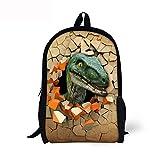 ThiKin Children School Book Bag Kids Dinosaur Printing Backpacks