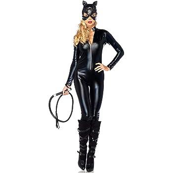 KIRALOVE Disfraz de Catwoman - Gato - Gato Negro - Mujer niña ...