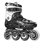 5th Element ST-80 Urban Inline Skates, Black and White - 11.0