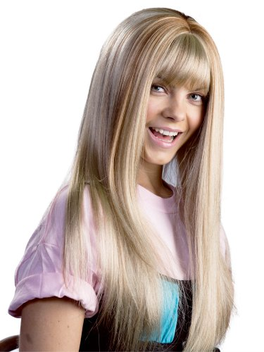 Enigma Wigs Women's Hannah, Blonde with Streaks, One Size