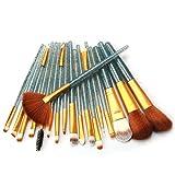 HOUXIAONI Set di Spazzole per Trucco per Labbra per Ombretto Eyeliner Eyeliner per Fondotinta in Polvere Multifunzione 18pcs,1-OneSize