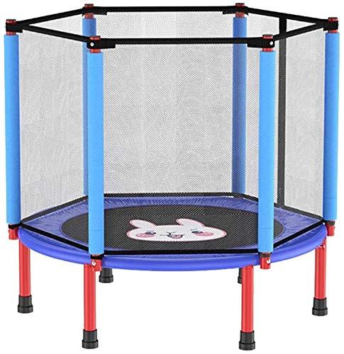 WANGCAI Kinder-Trampolin mit Sicherheitsnetz Enclosure, verzinkter Stahl, Ideal for Innen- und Außen Garten Trampolin for Kinder Geburtstags-Geschenk (Color : Blue)
