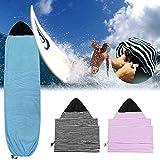 Xpccj - Funda protectora para tabla de surf, elástica, bolsa protectora ligera para tu tabla de surf, suave secado rápido al aire libre, No nulo, negro, 180*50cm