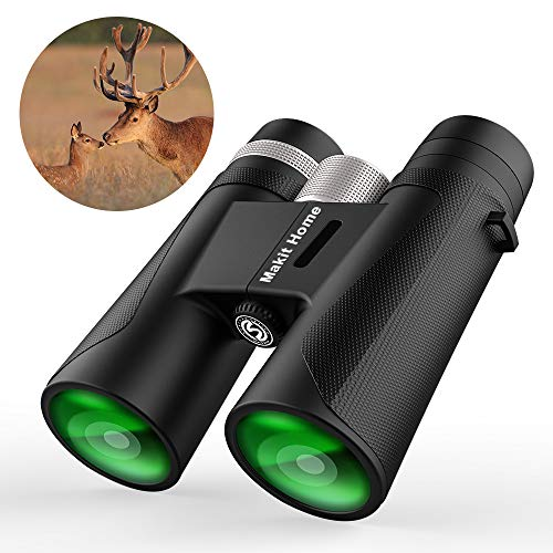 Binoculars for Adults, Compact HD Binocular Bak4 Roof Prism 12x42 for Bird Watching, Low Light Night Vision, High Powered Waterproof Fogproof for Hunting Camping Wildlife Sport View Concerts Best 2019