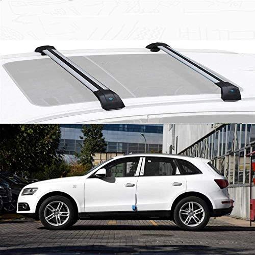 Soporte De Techo De Aleación De Aluminio Barra Transversal Antirrobo Barras De Carga De Techo Compatible Fácil Instalación Con Q5 2013-19 Bloqueable (Tamaño: Para Audi Q5 2019), For Audi Q5 2013