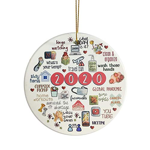 SUMDGE Life 2020 A Year to Forget - Remember 2020 Christmas Ornament - Quarantine 2020 Events Keepsake - Pandemic Commemorative Ornament for Xmas Tree Ornament Hanging Accessories