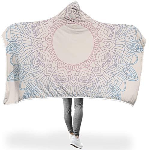 RQPPY Gradient Mandela Flanell Fleecedecke Anti-verfärben Sofadecke/Überwurfdecke Decke White 150x200cm