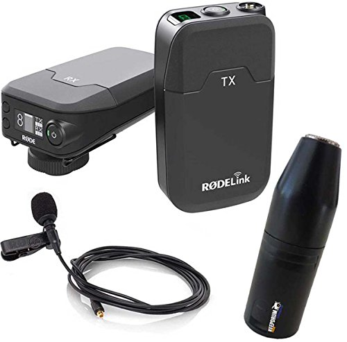 Rode RodeLink Filmmaker Funkmikrofon Drahtlos-System + keepdrum ADP08 Adapter XLR zu 3,5mm Mini-Klinke