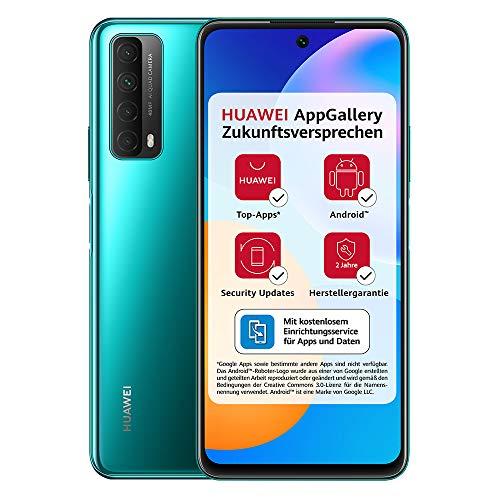HUAWEI P smart 2021 Dual SIM Smartphone (16,94 cm - 6,67 Zoll, 128 GB interner Speicher, 4 GB RAM, Android 10 AOSP ohne Google Play Store, EMUI 10.1) crush green + 5 EUR Amazon Gutschein