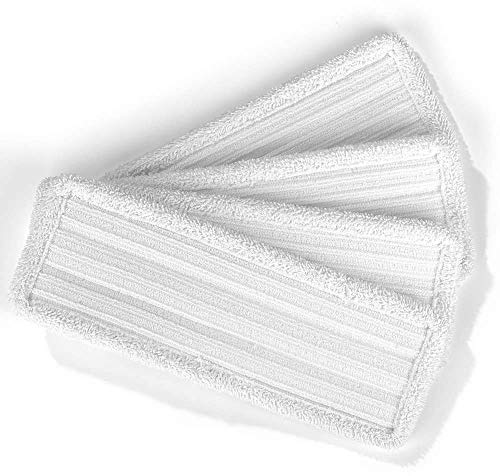 CLEANmaxx Ersatzwischtücher 4er-Set | Für Bodenwischer mit Vibrationsfunktion, weiß| 4 Mikrofasertücher [weiß für 50min Akku]