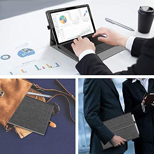 Fintie Hülle für Surface Go 2 2020 / Surface go 2018 10 Zoll Tablet - [Multi-Sichtwinkel] Hochwertige Kunstleder Schutzhülle Tasche Etui Cover Case mit Stylus-Halterung, Denim Dunkelgrau