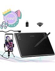 Huion Inspiroy H430P -2019 Upgrade tekentablet voor Osu! Handtekeningpad met batterijloze pen 4096 niveaus 4 sneltoetsen voor Android-telefoon, Windows, Mac