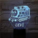 WxzXyubo Regalo de vacaciones del juguete de los niños del tren ligero de la noche 3D LED