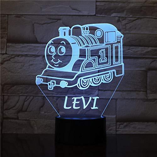 Lampe d'illusion 3D Led Night Light Cartoon Levi Tank Engine Thomas et amis décor décoratif porter pour enfants chambre chevetpour enfants