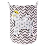 CHIXIANG Wäschekorb faltbar Wäschekorb für Spielzeug Geometrie Aufbewahrung...