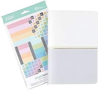 Erin Condren Designer Petite Journal Bundle - Includes Charcoal Colored Block Dot Grid Petite Journal and Dot Grid Sticker Sheet
