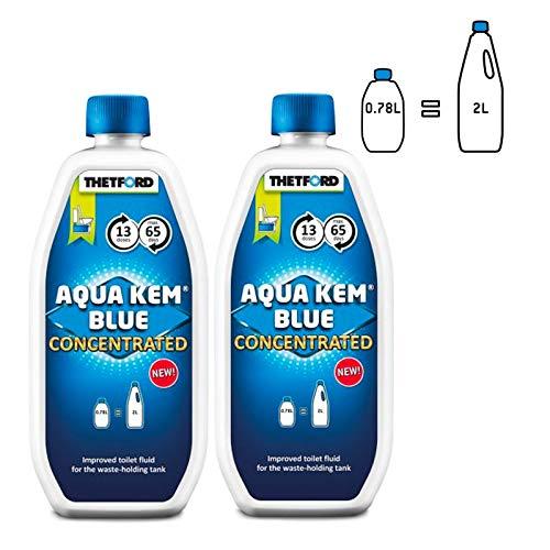 Thetford Aqua Kem Blue Toiletten Zusatz für den Abwasserbehälter (2x 0,78 Liter)