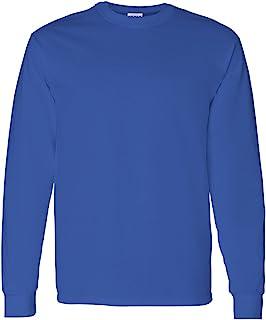 Gildan Heavy Cotton 5.3 oz. Long-Sleeve T-Shirt, Large, Royal