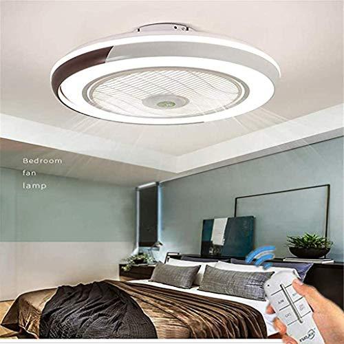 LED Deckenventilator Mit Beleuchtung Und Fernbedienung Leise 60W Deckenleuchte Dimmbare Modern Deckenlamp Schlafzimmer 50CM Unsichtbare Ventilator Kinderzimmer,Gold