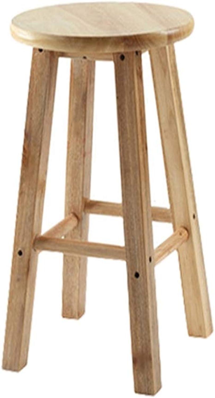 nuevo estilo ZZ Chair Chair Chair Taburete de Madera Taburete Reposapiés rojoondo Pub Asiento Fuerte Madera Dura Cocina Desayunador Café en el Invernadero (Tamaño   70cm)  salida para la venta